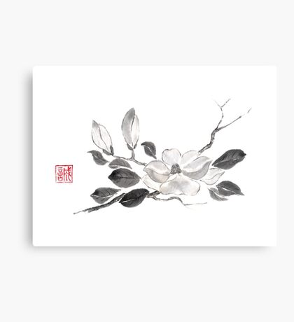White queen sumi-e painting Canvas Print