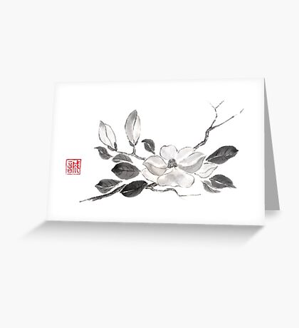 White queen sumi-e painting Greeting Card