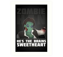 Zombie Han Art Print