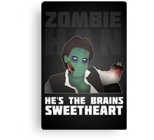 Zombie Han Canvas Print