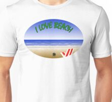 I love Beach Unisex T-Shirt