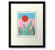 Freakin' - memphis throwback style palm springs neon art print 1980s vintage desert road trippin Framed Print