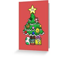 Super Mario - Mushroom Kingdom Christmas Greeting Card