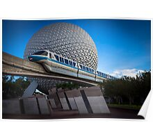 Blue Monorail Poster
