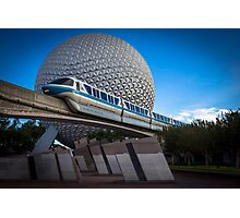 Blue Monorail Photographic Print