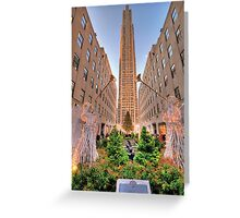 Rockefeller Center at Christmas Greeting Card