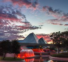 Sunset over Imagination Pavilion by Matt Hopkins