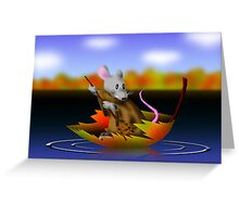 Fall Mouse Greeting Card