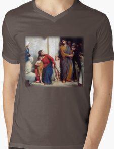 Carl Heinrich Bloch - Suffer the Children Mens V-Neck T-Shirt