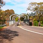 On route to Redesdale 2-arch bridge along the Mia Mia - Redesdale Road VIC Australia by Margaret Morgan (Watkins)