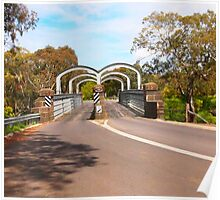 On route to Redesdale 2-arch bridge along the Mia Mia - Redesdale Road VIC Australia Poster