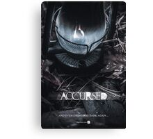Accursed - Anniversary Poster Canvas Print