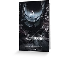 Accursed - Anniversary Poster Greeting Card