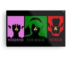 Zelda-Triforce of power  Metal Print