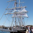 Aonther look at the 'Lord Nelson' Tall Ships Festival Port. Adelaide. by Rita Blom