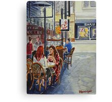 Coffee break Block Place Canvas Print