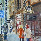 Orange Coat, Collins Street by Virginia  Coghill
