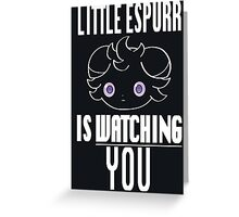 Watchful Little Espurr Greeting Card