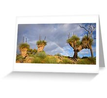 Grass trees with rainbow Greeting Card