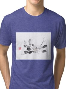 White queen sumi-e painting Tri-blend T-Shirt