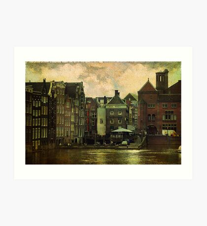 Painted Amsterdam Art Print