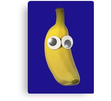 Googly-Eyed Banana Canvas Print