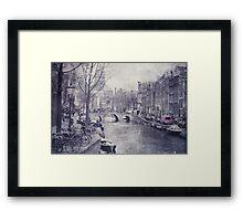 Vintage Amsterdam Framed Print