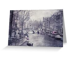 Vintage Amsterdam Greeting Card