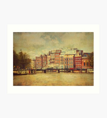Painted Amsterdam 1 Art Print