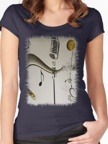 SOLD - SING ME AN OLD FASHIONED SONG! Women's Fitted Scoop T-Shirt