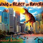 Dinosaur attack on Brisbane by WendyandMarg