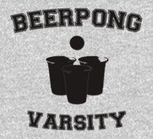 Beer Pong Varsity Black by Jean Marie Fuentes