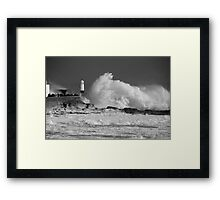 A storm is brewing... Framed Print