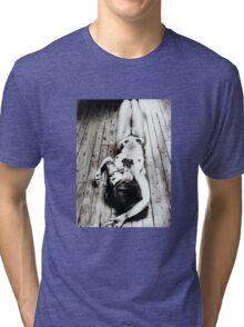girl... posing ... pencil Tri-blend T-Shirt