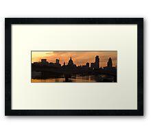 City panorama Framed Print