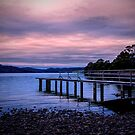 Dusk on the jetty  by Robert-Todd