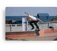 Backside Kickflip - Empire Park Skate Park Canvas Print