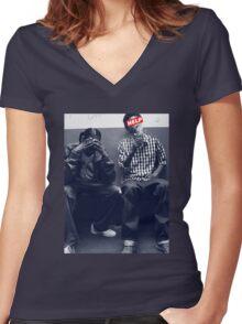 S.N.O.O.P.I.Z Women's Fitted V-Neck T-Shirt