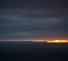 lundy under a bleak sunset by James Calvey