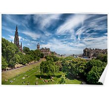 Lazing on a Sunny Afternoon in Edinburgh Poster