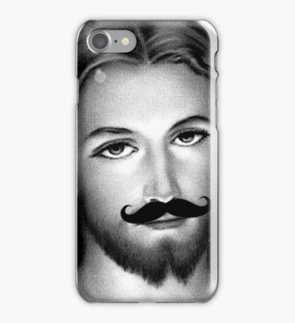 Jésus Moustache iPhone Case/Skin
