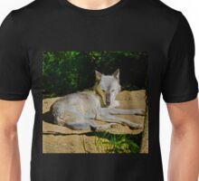 Wolf Sunbathing Unisex T-Shirt