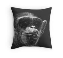Almost Human - chimpanzee Throw Pillow