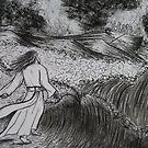 Jesus walks on water by Gez Sullivan