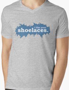Tee: I like your shoelaces Mens V-Neck T-Shirt