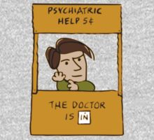 the doctor is in, doctor who peanuts cross over Baby Tee