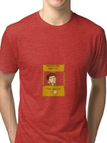 the doctor is in, doctor who peanuts cross over Tri-blend T-Shirt