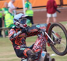 Speedway bike wheely by ejrphotography