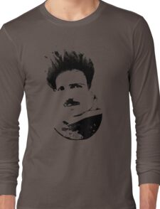 Postmodern Tesla Black Long Sleeve T-Shirt