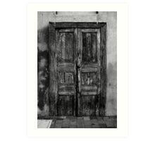 An Old Door in Milan, BW. Corso Lodi, 47 Art Print